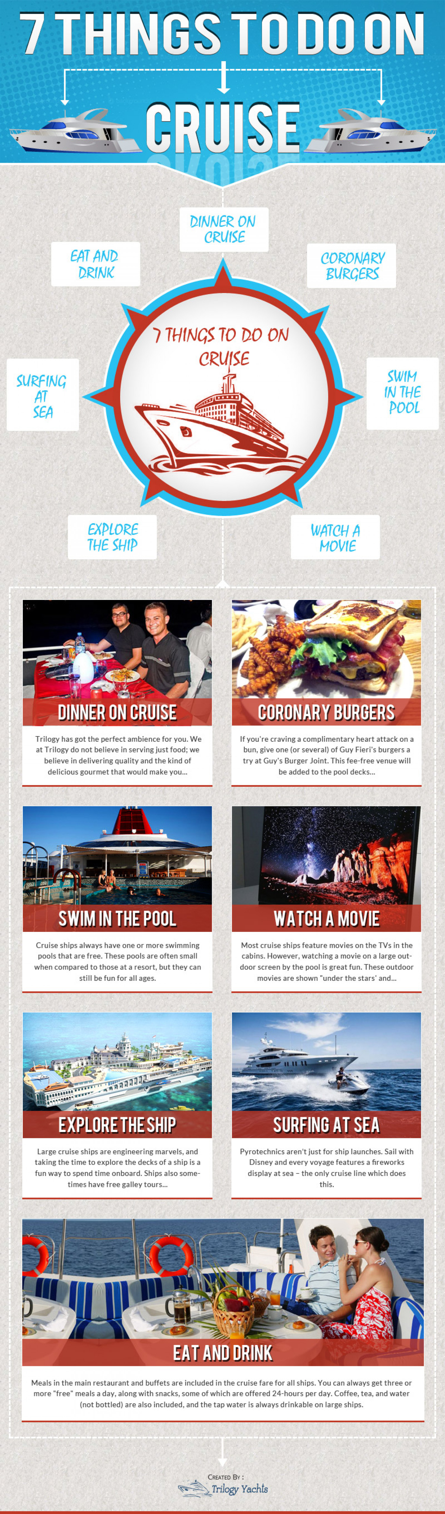7 must do things on Cruise Infographic