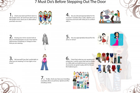 7 Must Do's Before Stepping Out the Door Infographic