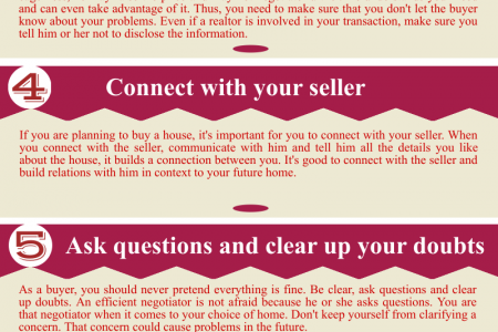 7 Negotiation Tips For The Home Buyers Infographic