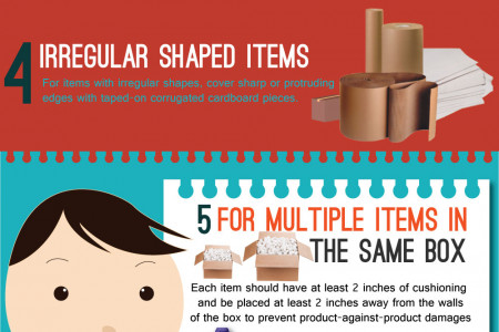 7 Packing Tips For International Shipping Infographic