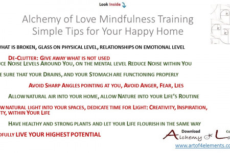 7 Simple Feng Shui Mindfulness Tips for Happy Home Infographic