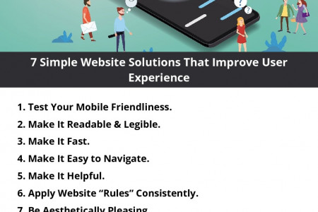 7 Simple Website Solutions That Improve User Experience Infographic