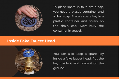 7 Smart Ideas To Hide Spare key Infographic
