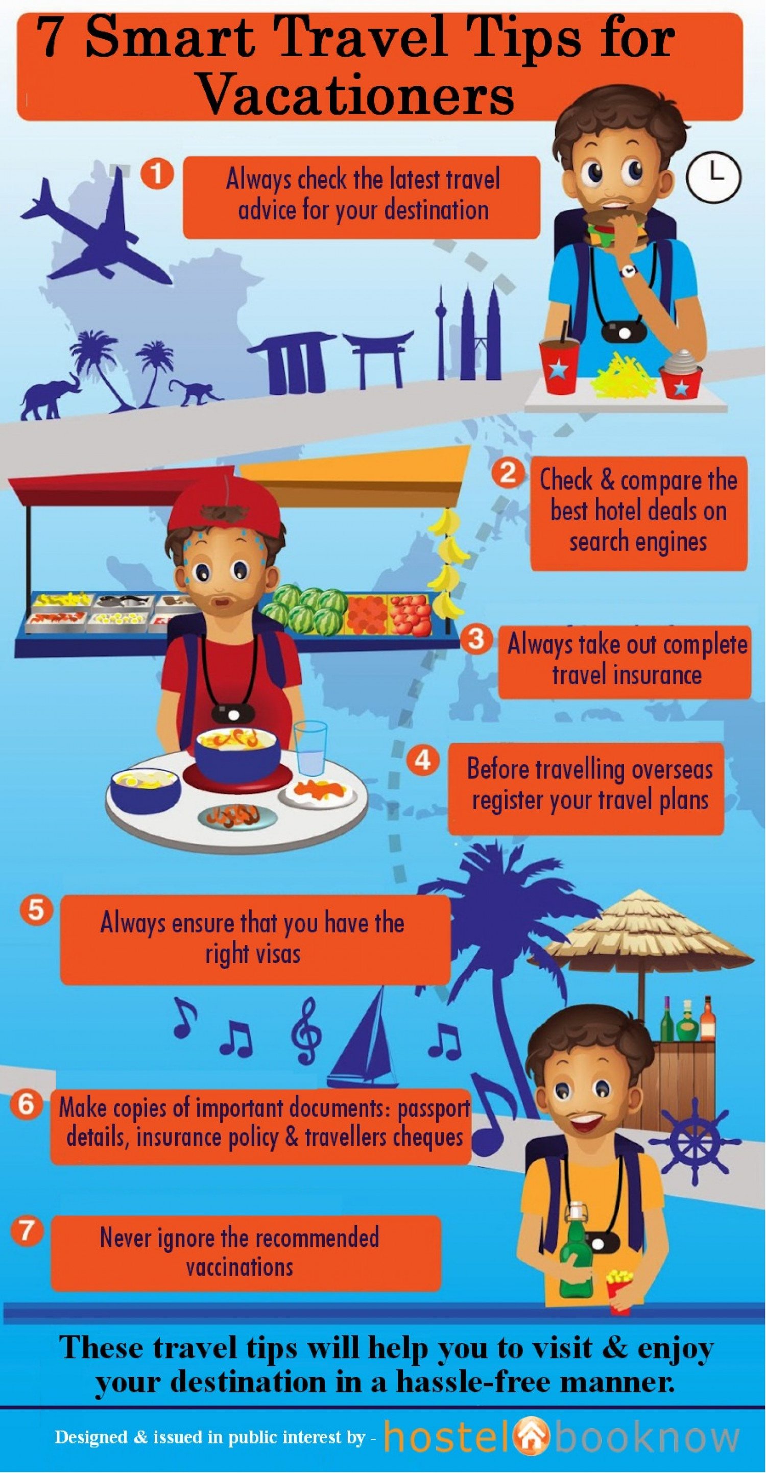 7 Smart Travel Tips for Vacationers Infographic