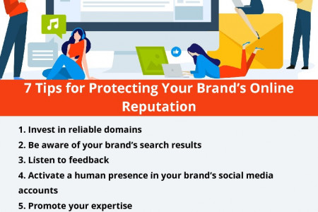 7 Tips for Protecting Your Brand's Online Reputation Infographic