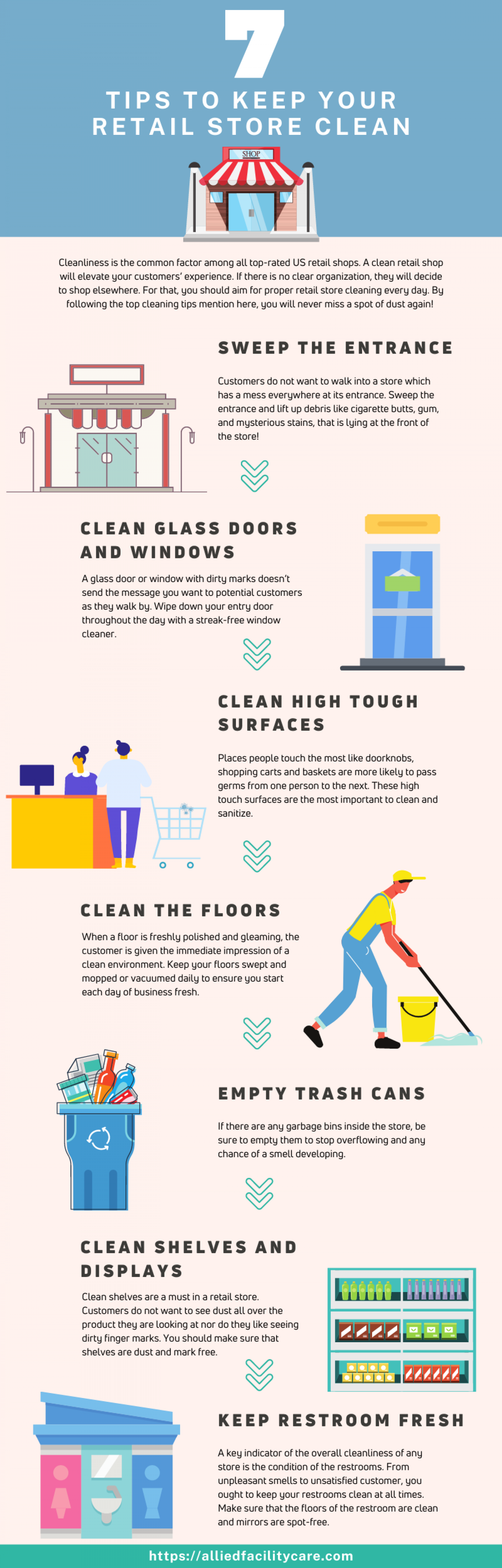 7 Tips to Keep Your Retail Store Clean Infographic