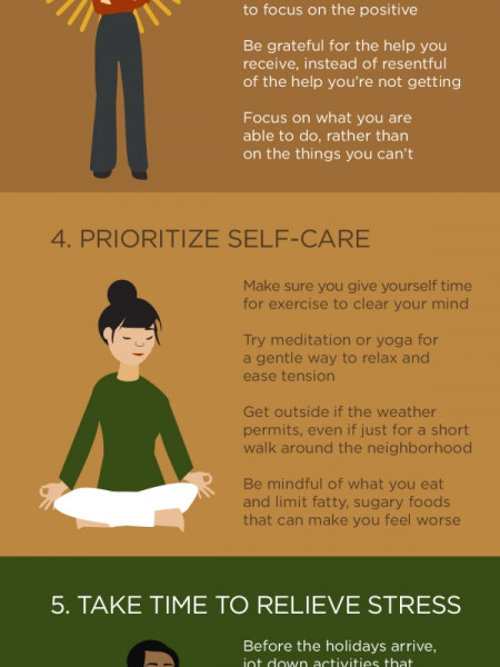 7 Tips to Prevent Caregiver Burnout During the Holidays Infographic