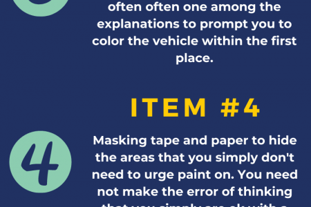 7 Tools and Equipment Used by Car Spray Paint Shop Infographic