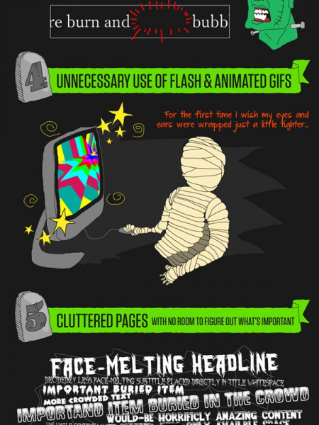 7 Ways To Avoid Scary Web Design Infographic