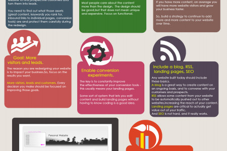 7 Website Redesign Tips Infographic
