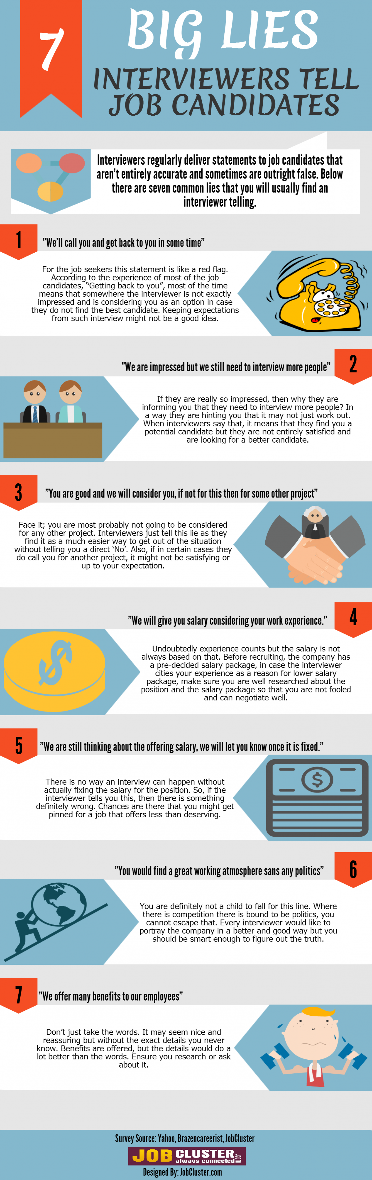 7 Big Lies Interviewers Tell Job Candidates Infographic