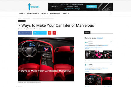 7 Ways to Make Your Car Interior Marvelous Infographic