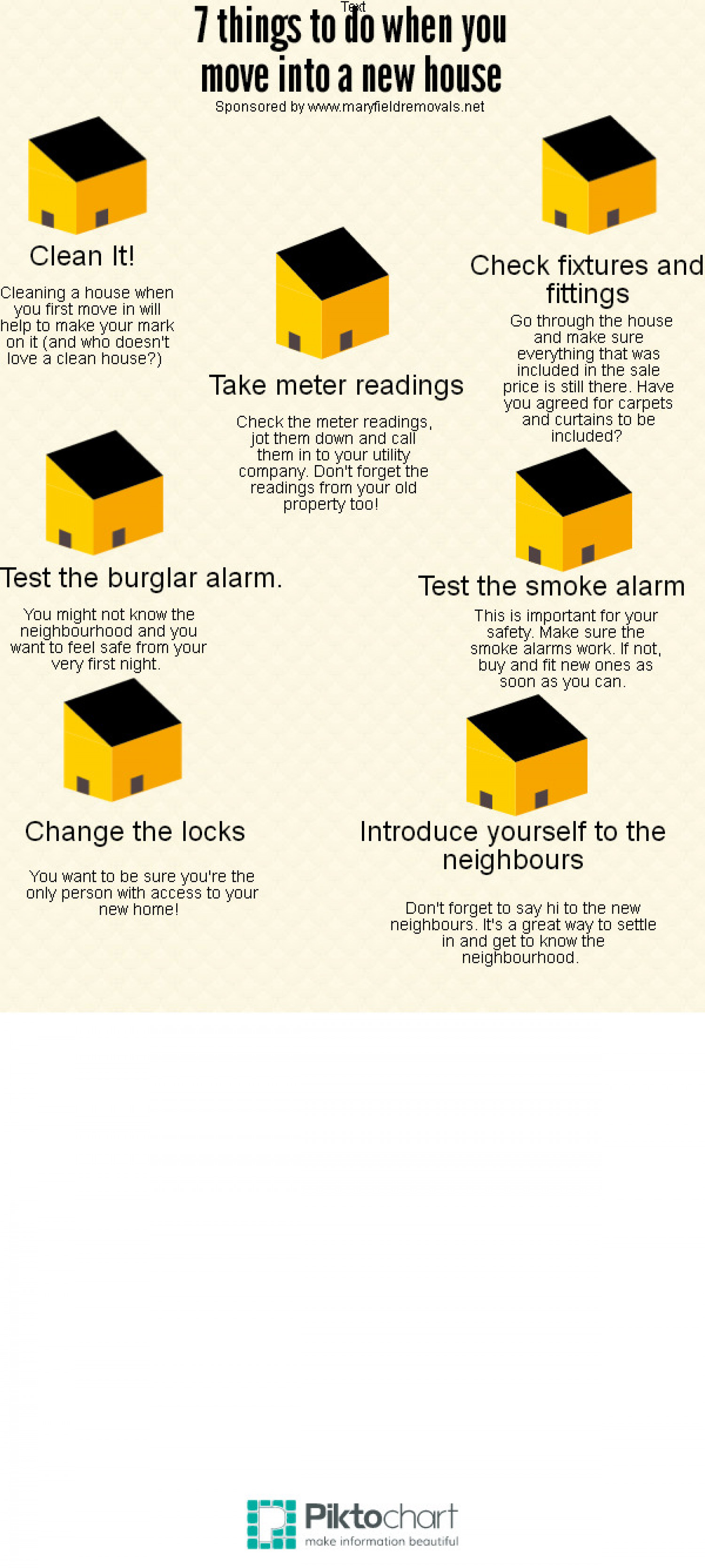 7 Things To Do When Moving Into A New House Infographic