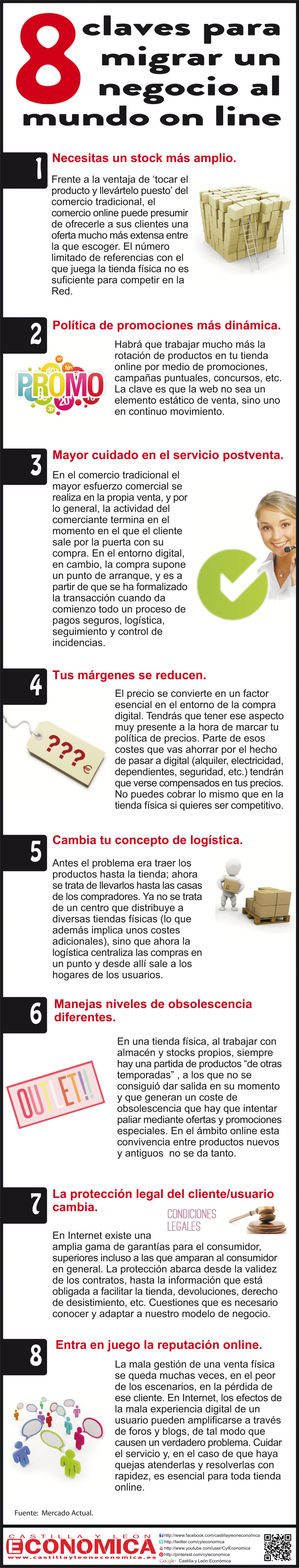 8 claves para migrar tu negocio al mundo 'on line' Infographic