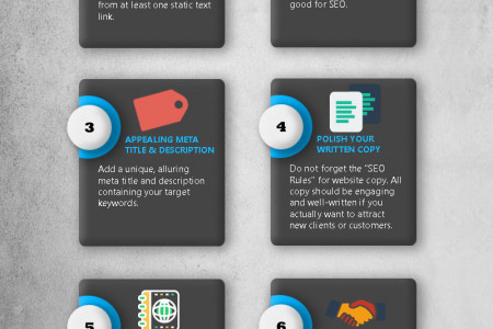 8 Easy SEO Steps for Small Business Infographic