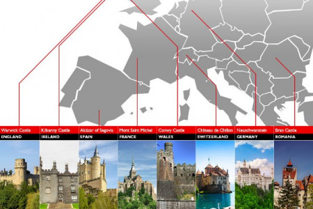 8 Fairytale Castles To Visit Infographic