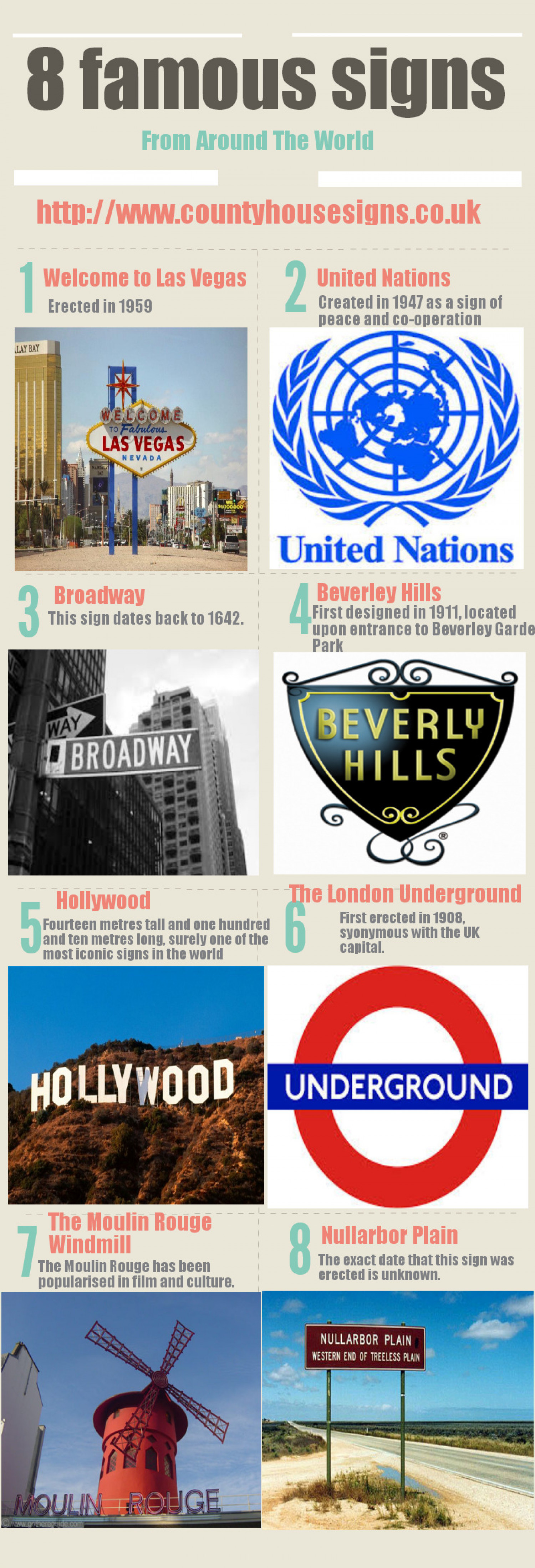8 Famous Signs From Around The World Infographic