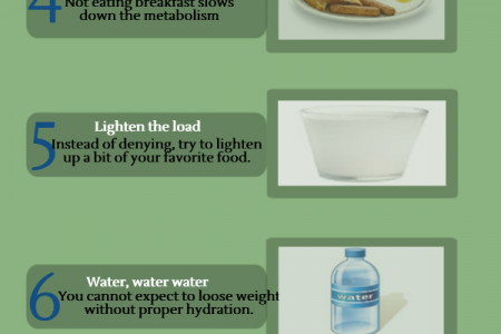 8 Healhty Tips for Lasting Weight Loss Infographic