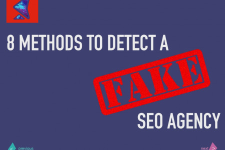 8 Methods to Detect  a Fake SEO Agency Infographic