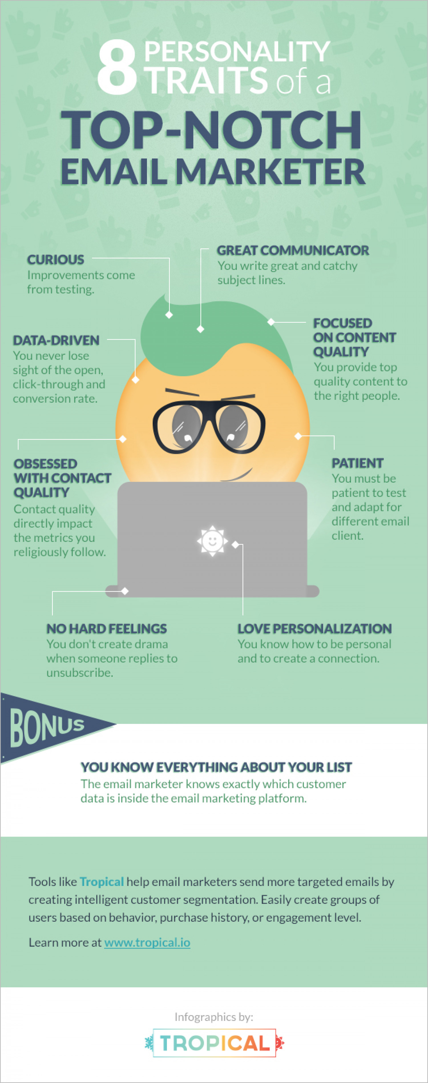 8 Personality Traits Of A Top-Notch Email Marketer Infographic