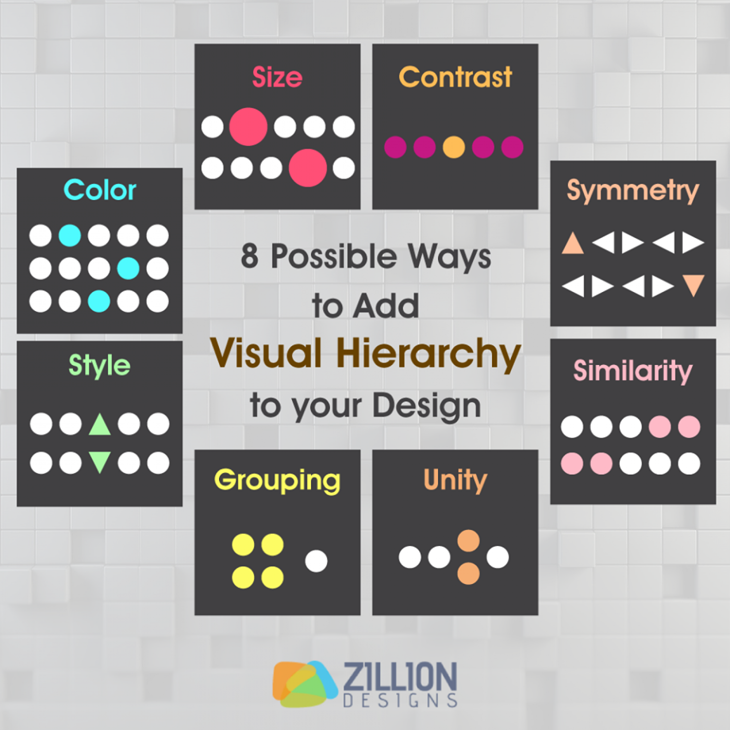 8 possible ways to add visual hierarchy to your design visual ly