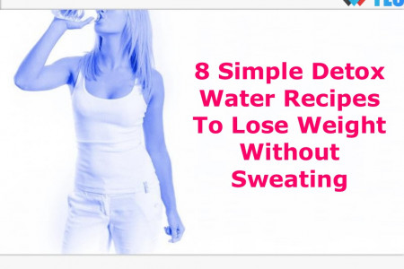 8 Simple Detox Water Recipes To Lose Weight Without Sweating  Infographic