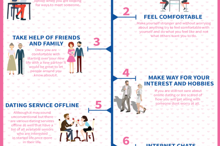 8 Simple Tips for Senior People Dating Infographic