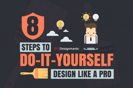 8 Steps To Do It Yourself Design Like A Pro! Infographic