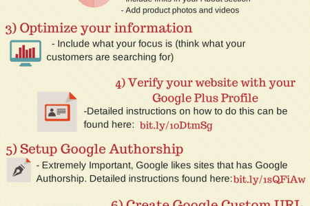 8 Steps to Ensure Success with Google Plus Infographic
