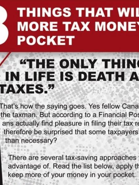 8 Things That Will Put More Tax Money In Your Pocket Infographic