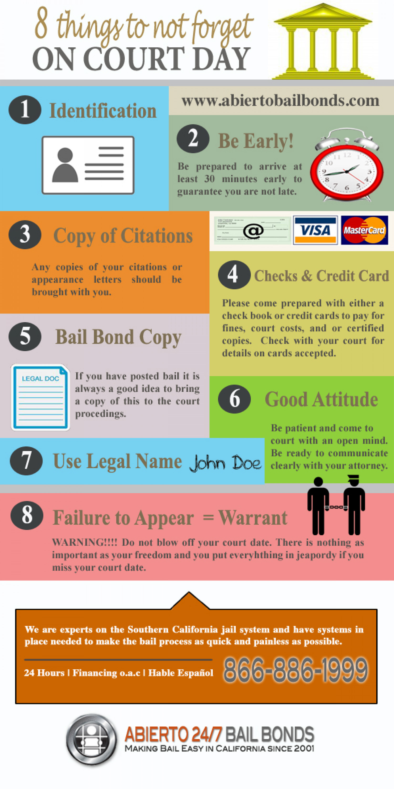 8 Things to Not Forget on Court Day Infographic