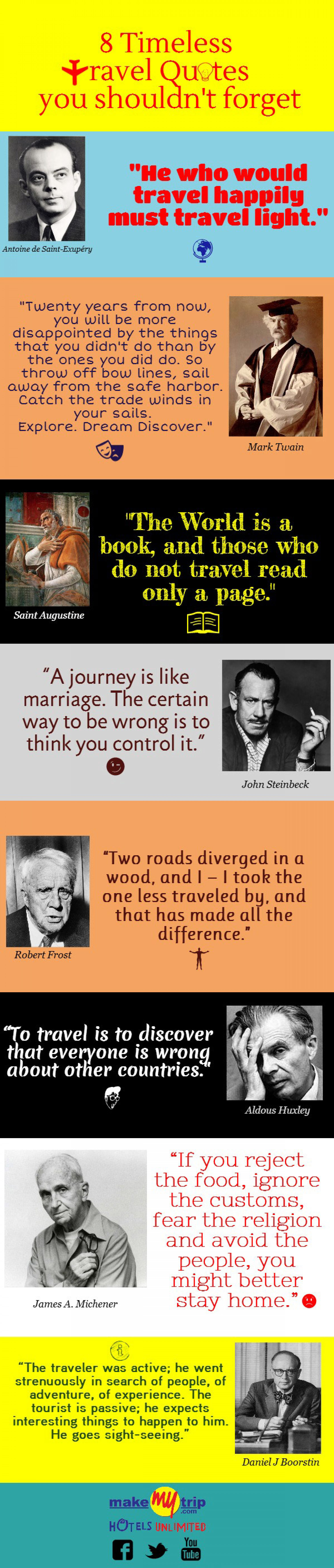 8 Timeless Travel Quotes You Shouldn't Forget Infographic