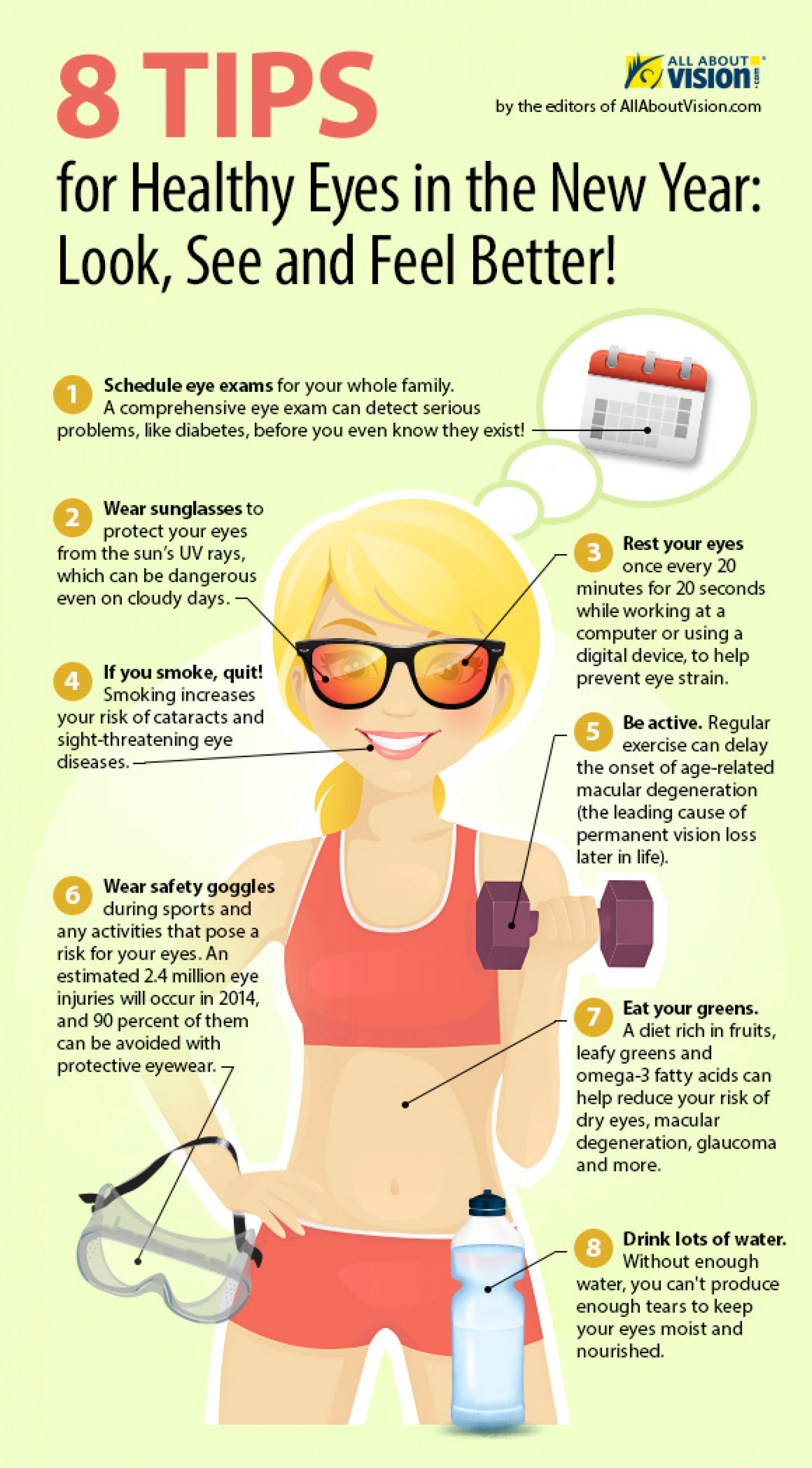 8 Tips for Healthy Eyes in the New Year Infographic