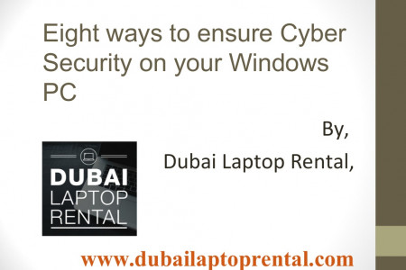 8 ways to ensure Cyber Security on your Windows PC Infographic