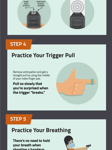 8 Ways to Improve Your Handgun Accuracy Infographic