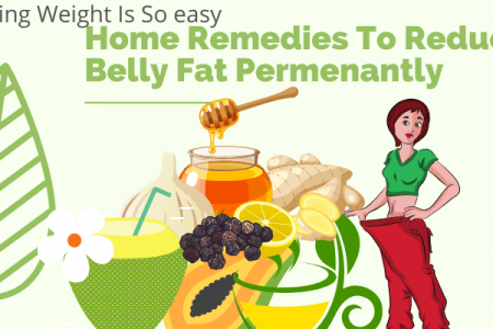 9 Amazing Tested Home Remedies to lose Weight naturally Infographic