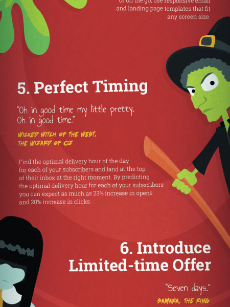 9 Email Marketing Tips from Your Favorite Monsters Infographic