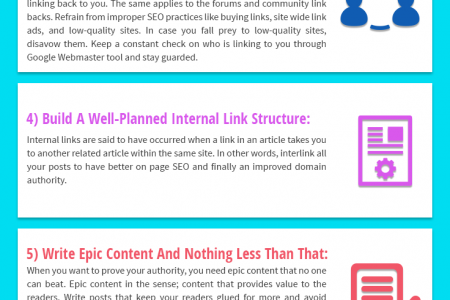 9 Key Techniques To Improve Your Website Domain Authority Infographic