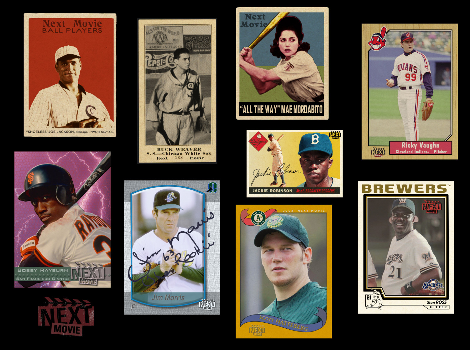 9 Movie Baseball Cards Infographic