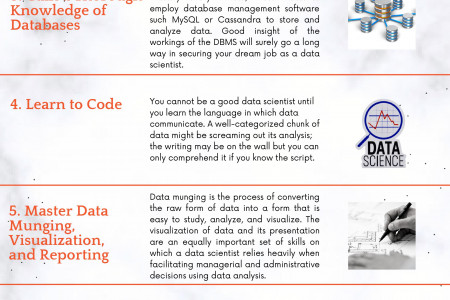 9 Steps to Become a Data Scientist Infographic