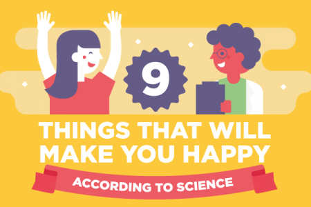 9 Things That Will Make You Happy, According to Science Infographic