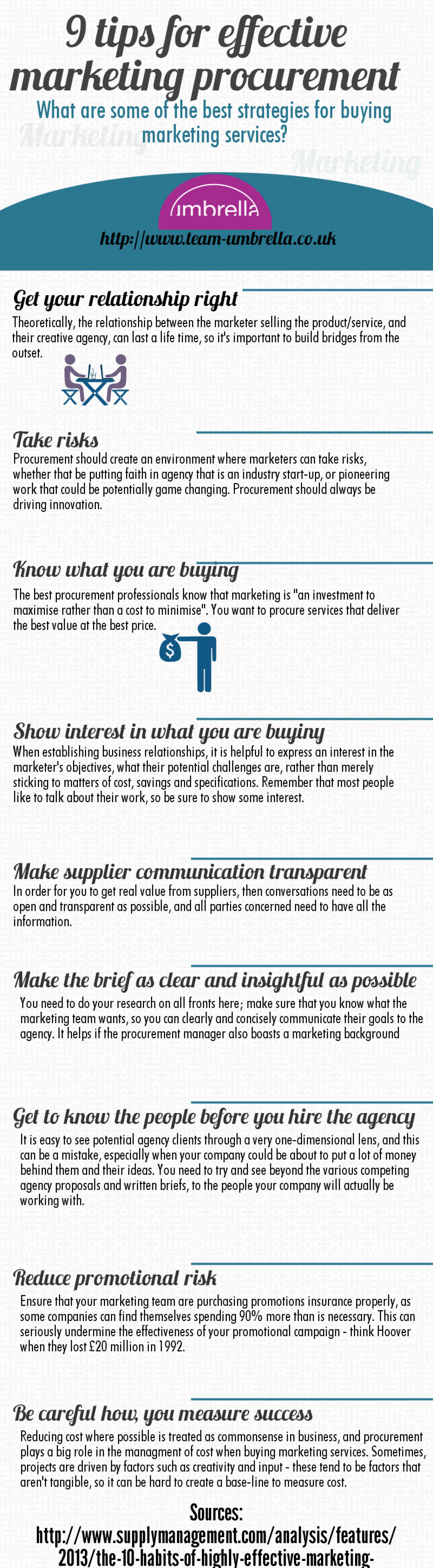 9 tips for marketing procurement  Infographic