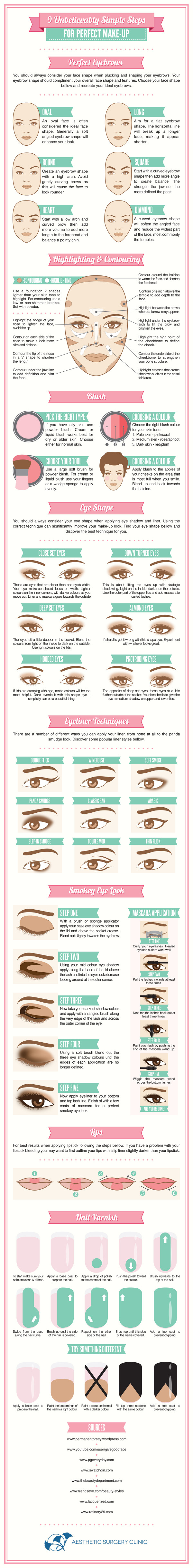 9 Unbelievably Simple Steps For Perfect Make-Up