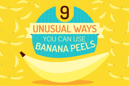 9 Unusual Ways You Can Use Banana Peels Infographic