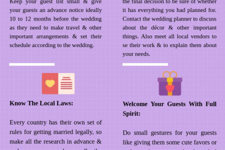 9 Useful Tips For Planning A Destination Wedding Infographic