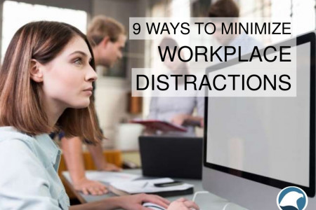 9 Ways To Minimize Workplace Distractions Infographic