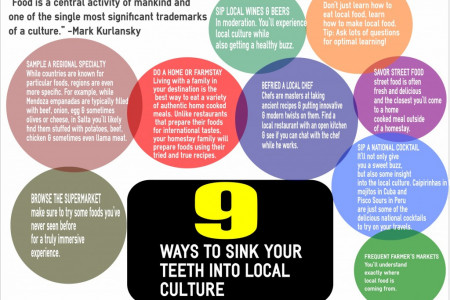 9 Ways To Sink Your Teeth Into Local Culture Infographic