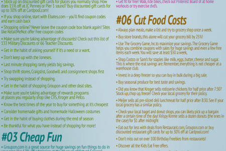 98 Ways to Cut Your Spending by $400 a Month Infographic
