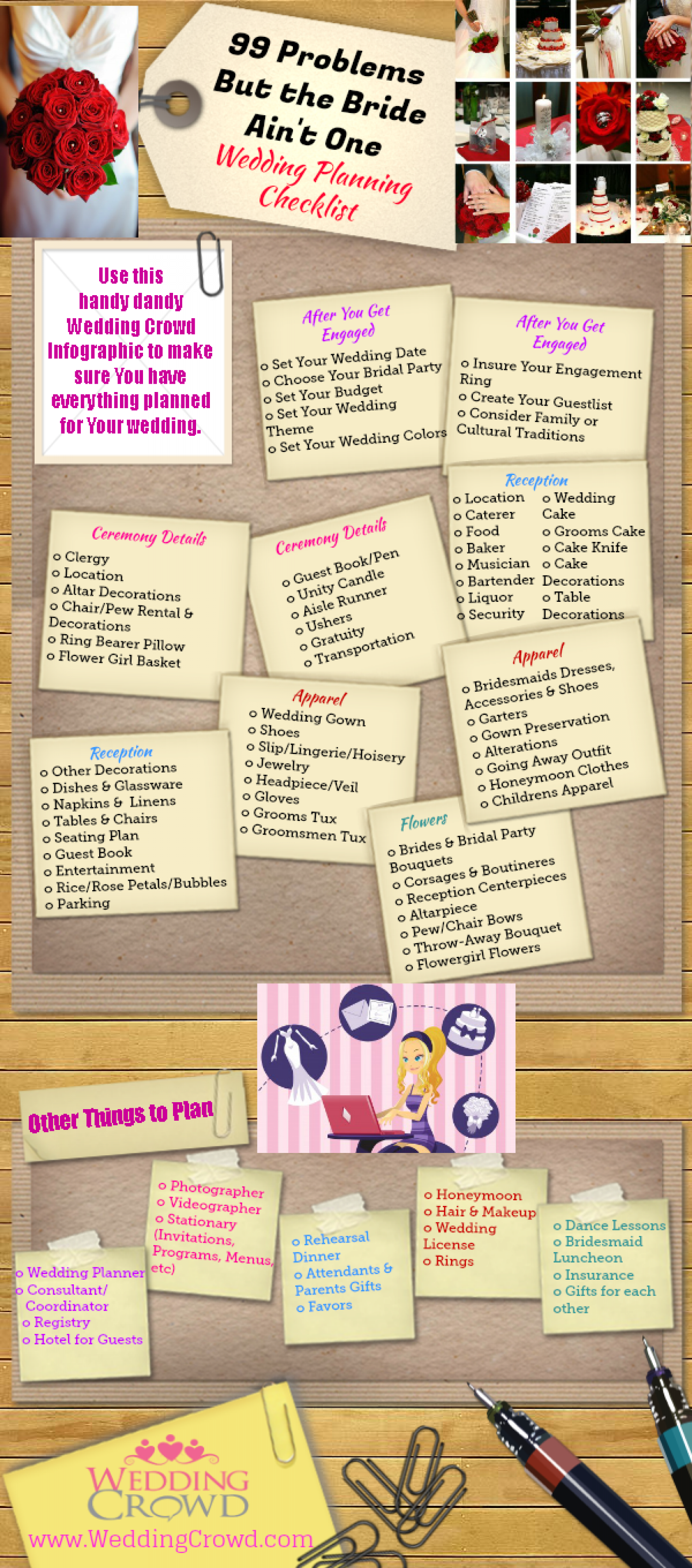 99 Problems But the Bride Ain't One, Wedding Planning Checklist Infographic