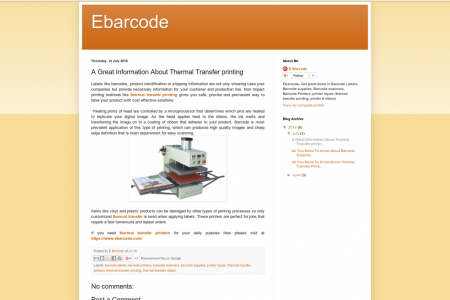 A Great Information About Thermal Transfer printing Infographic